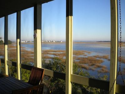 Bald Head Island townhome rental - 10,000 acre salt marsh view from the Greatroom