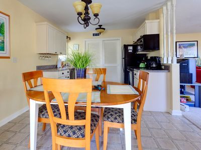 Our dining area flows conveniently right into the kitchen!