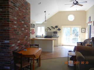 View from family room back into kitchen - East Orleans house vacation rental photo