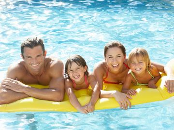 Play with family or friends in your sparkling, heated, private in ground pool