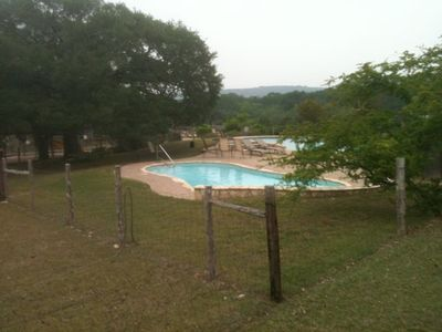 One of two pool areas on the property - this one a wading pool for little ones