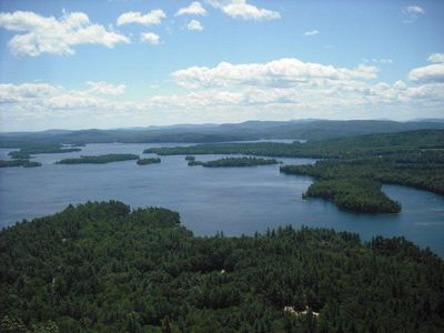 View from Rattlesnake Mountain (Area Hike) overlooking Squam Lake