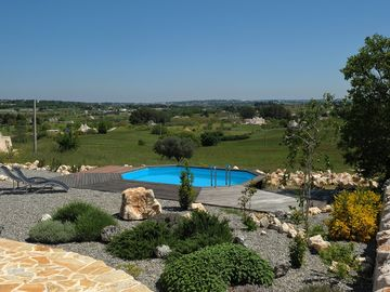 Private pool with views over the countryside
