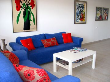 Netanya apartment rental - Living room