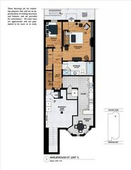 Boston apartment photo - Rendered floor plan.