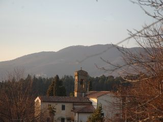 Fiesole villa photo - Fornello village old church