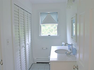 Nantucket Town house rental - Downstairs Half Bath (washer dryer behind closet)