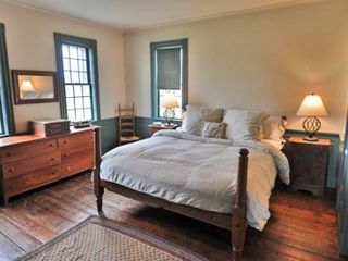 Edgartown house photo - Bedroom #1 - Master Suite Has King Bed, Pastoral Views, Fireplace, Bose Radio, Full Bath. First Floor
