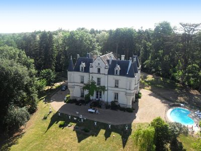 Private family Chateau to Rent with heated pool and 10 acres of secluded Forest