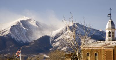 THE FOURTEENER'S SHOT FROM DOWNTOWN BUENA VISTA.............