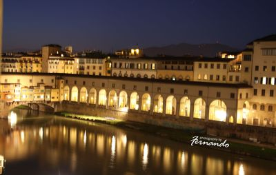 PONTE VECCHIO BY NIGHT- PHOTO TAKEN FROM ONE OF THE 3 LARGE WINDOWS OF THE APT