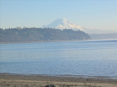 Mt. Rainier. Beautiful view during your beach walk.