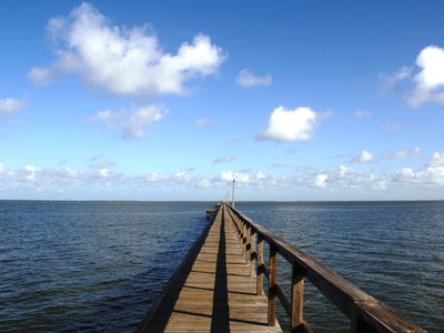 With your personal key for access, the 90 foot fishing dock is so tranquil.