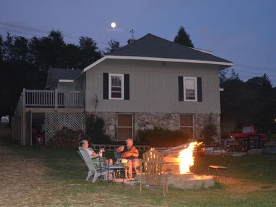 The fire pit is one of the most popular features at Banner Haven
