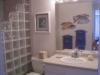 Maalaea condo photo - Master bath with large walk-in tile shower.
