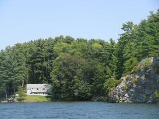 Lake Bomoseen house photo - Private cove with rock features