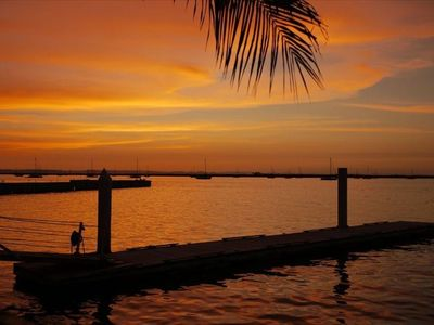 Loreto house rental - Sunset looking out at the marina from Paraiso Del Mar
