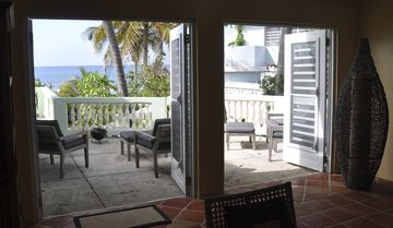 View off Livingroom to side porch