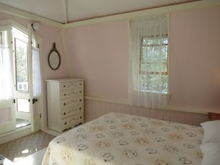 Oak Bluffs house photo - Front Bedroom with Balcony Overlooking Park