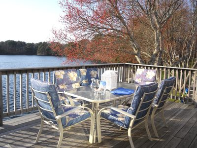 enjoy waterfront AM coffee - PM BBQ or anything in between on the deck