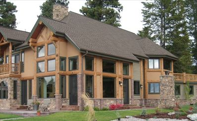 Equisite New Home with boat dock on Flathead Lake in Bigfork, MT!