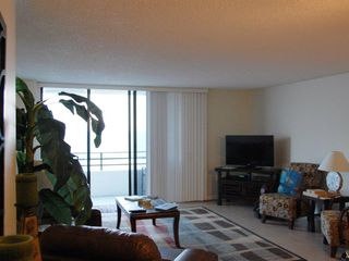 Daytona Beach condo photo - Watch TV on new Flat Screen and See the Wave at the Same Time