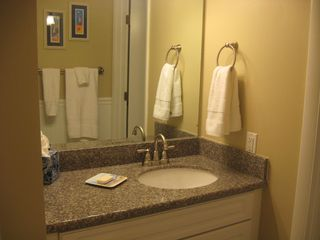 St. Simons Island condo photo - New vanity and tiled floor for the dressing room.