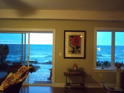 View of whitecaps from living room