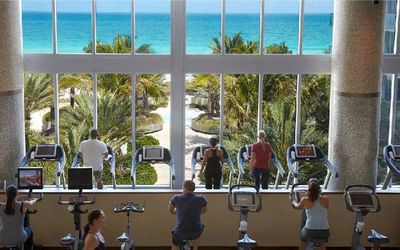 Have a workout by the gym while still enjoying the ocean front view!!!