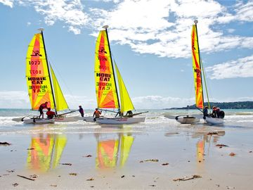 Catamarans at St Aubin's Bay