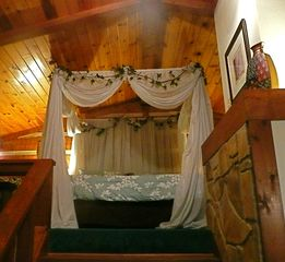 Gatlinburg cabin photo - View of bed from living area