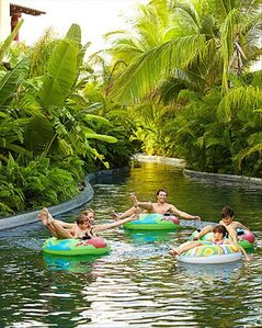 "Enjoy the tropical ""Lazy River"" at the Four Season's resort."