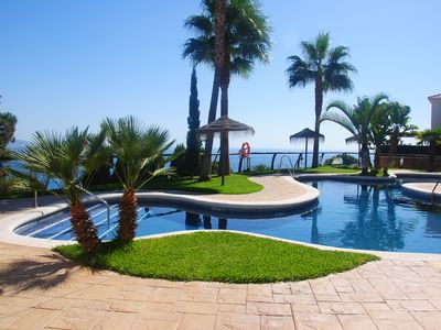 Beachfront villa with two swimming pools
