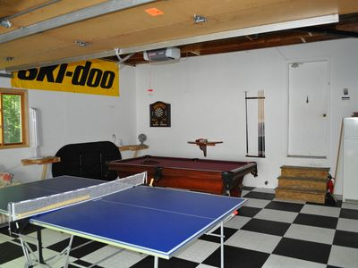 screened in game room in garage pool table ping pong 42