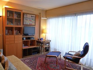 8th Arrondissement Champs Elysees apartment photo - Bright livingroom, new TV and extensive library of reference and guide books.