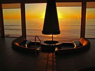 Sunset in the Ocean View Lounge