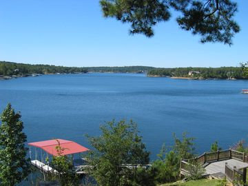 Lewis Smith Lake cottage rental - Spectacular lake view from house deck
