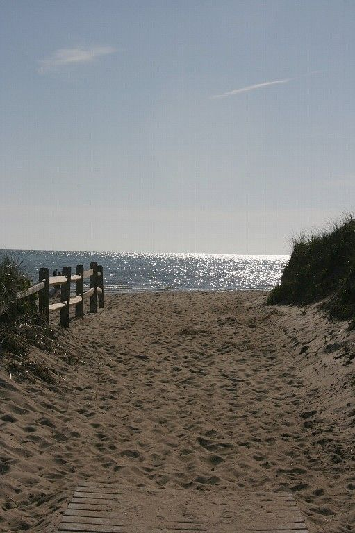 entrance to Cole Road Beach - .4 miles from cottage