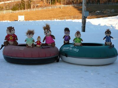 A chipper day tubing at Cranmore