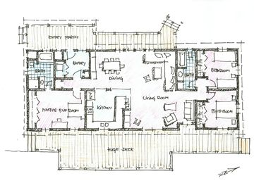 Floor plan with furnishings