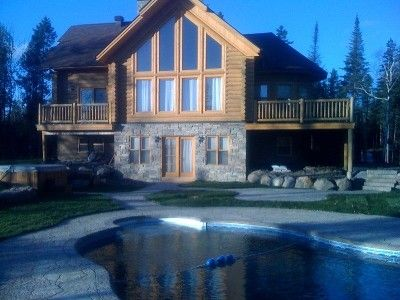 Luxury Log Cabin With Private Outdoor Pool Vrbo