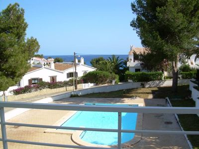Apartment with terrace, garden and pool, at 2m Cala Anguila