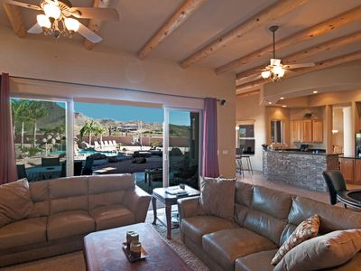 Sliding Glass Doors in Family Room Bring the Outdoor In