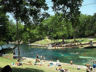 5 minute drive to fresh water pool at Barton Springs