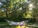 Relax with a book on the hammock and soak in the sun