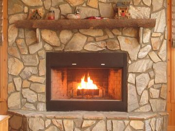 Cozy-up by the inviting fireplace and warm-up on those cool crisp evenings.