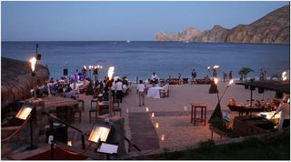 Cabo San Lucas condo photo - Dining at night on Medano Beach