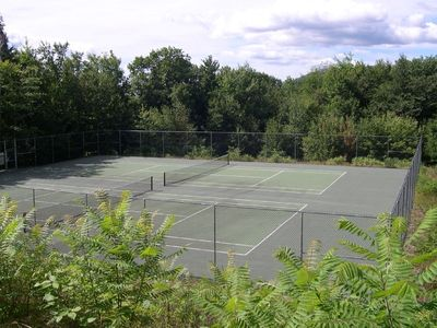 Tennis courts in excellent condition at the condo