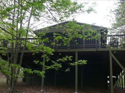 Hedgesville cottage rental - Rear view of cottage