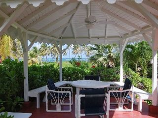 Nisbet Beach villa photo - Private gazebo, great for a restful aftnernoon or al fresco dining.